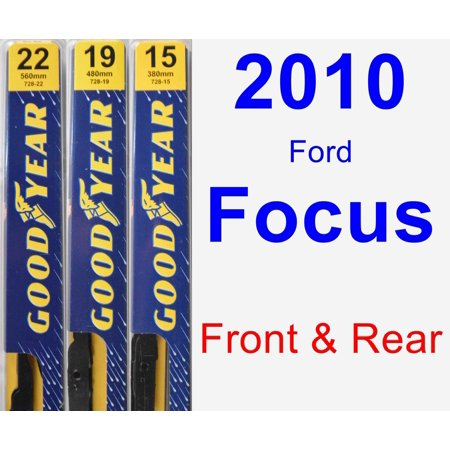 - 2010 Ford Focus Wiper Blade Set/Kit (Front & Rear) (3 Blades) - Premium