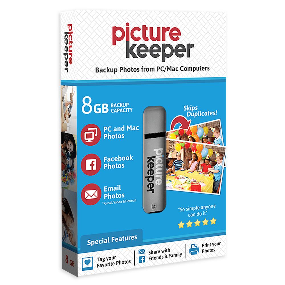 Picture Keeper Portable Flash Drive Photo Backup USB Drive 8GB