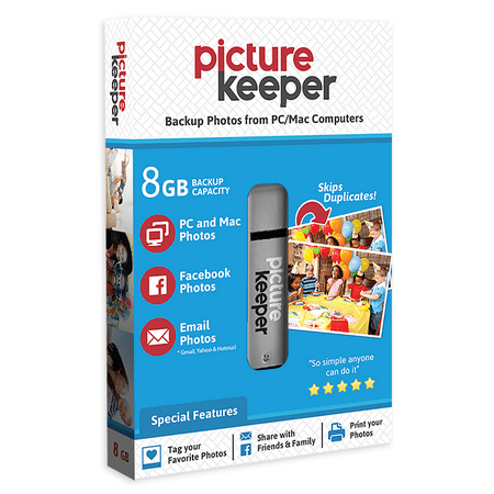 Picture Keeper Portable Flash Drive Photo Backup USB Drive 8GB Flash Drive Pictures