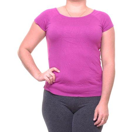 RALPH LAUREN Womens Pink Short Sleeve Scoop Neck T-Shirt Top  Size: (Lauren Pink Collection)