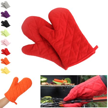 Check Oven Mitt (Bonrich Solid Color Oven Mitt Oven Glove For The Kitchen Baking Essential Tool For Removing Food Or Mold From The Oven And Microwave)