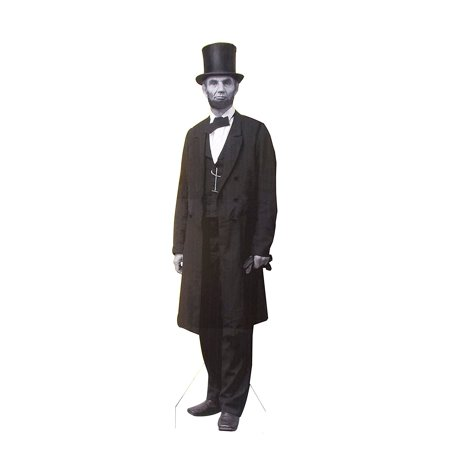 Aahs Engraving President Abraham Lincoln Life Size Carboard Stand Up, Black and White Print, 7 feet