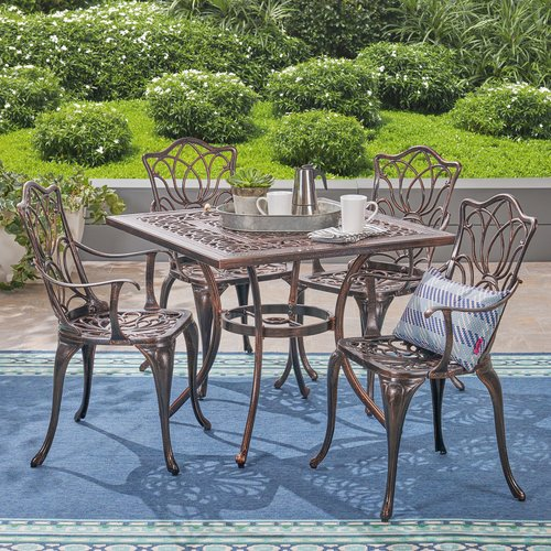 Fleur De Lis Living Bryton Outdoor 5 Piece Dining Set