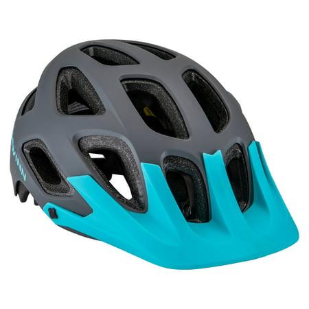 Schwinn Excursion Adult Helmet, ages 14 and up, Grey / Teal (Gray N-com Helmet)