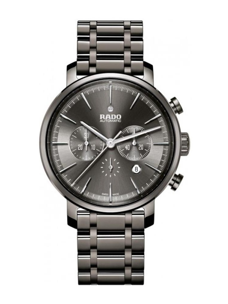 Rado Men's Diamaster 45mm Grey Ceramic Band & Case Sapphire Crystal Automatic Analog Watch R14076112