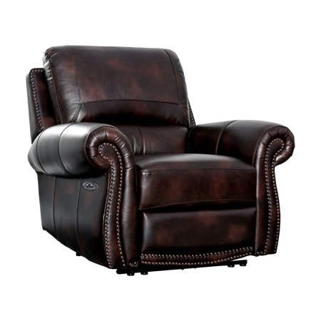 Furniture of America Starburn II Top Grain Leather Match Reclining -