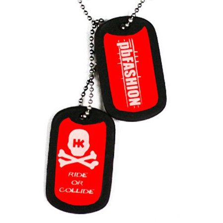 HK Army Dog Tags - Red HK/PBFashion Edition Dog Tags