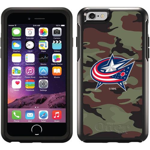 Columbus Blue Jackets Traditional Camo Design on OtterBox Symmetry Series Case for Apple iPhone 6