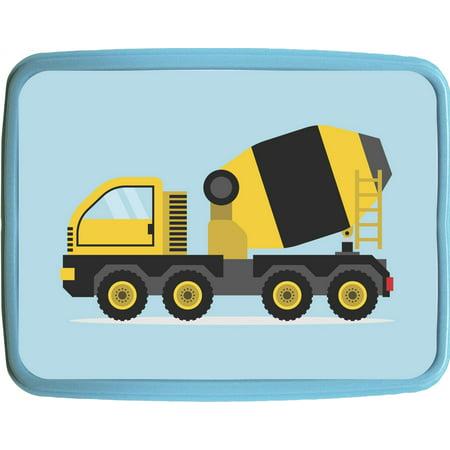 "Cement Mixer Truck - Boys 7"" x 9"" Blue Plastic Reusable Children"