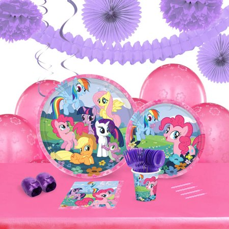 My Little Pony Friendship is Magic 16-Guest Tableware and Decoration Kit - My Little Pony Party