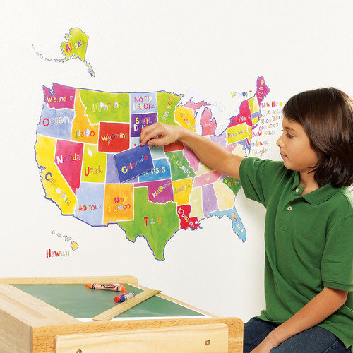 Wallies Us State Map Interactive Wall Decal