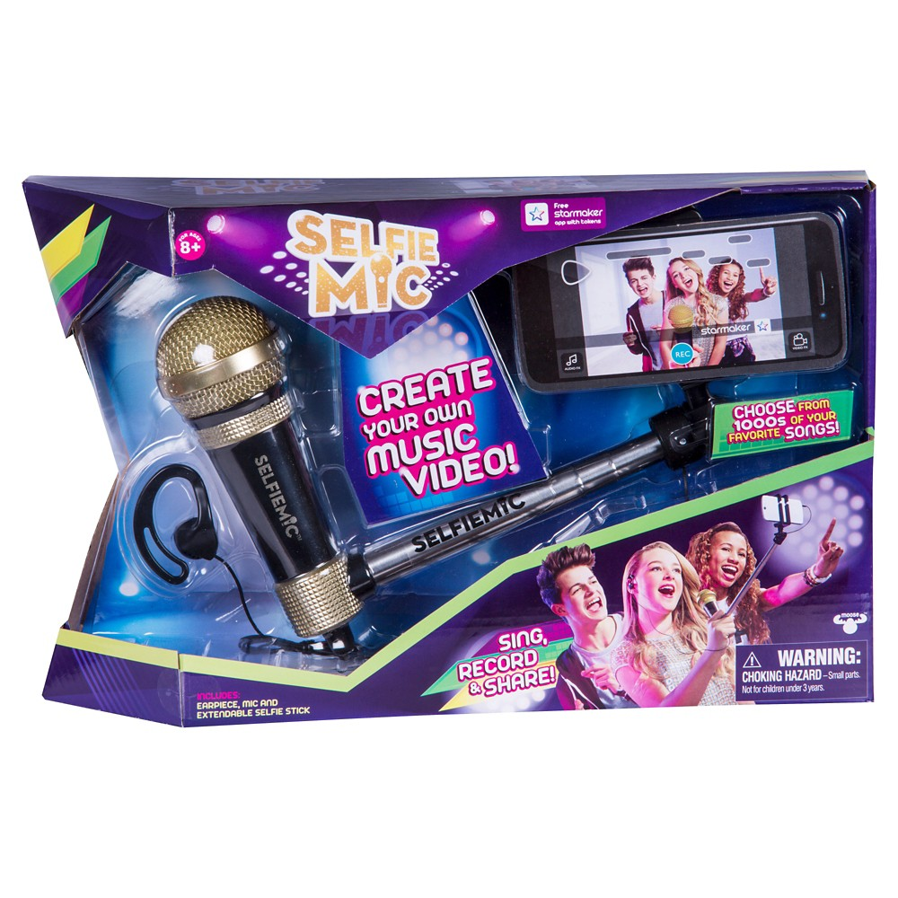 SelfieMic with Adjustable Selfie Stick