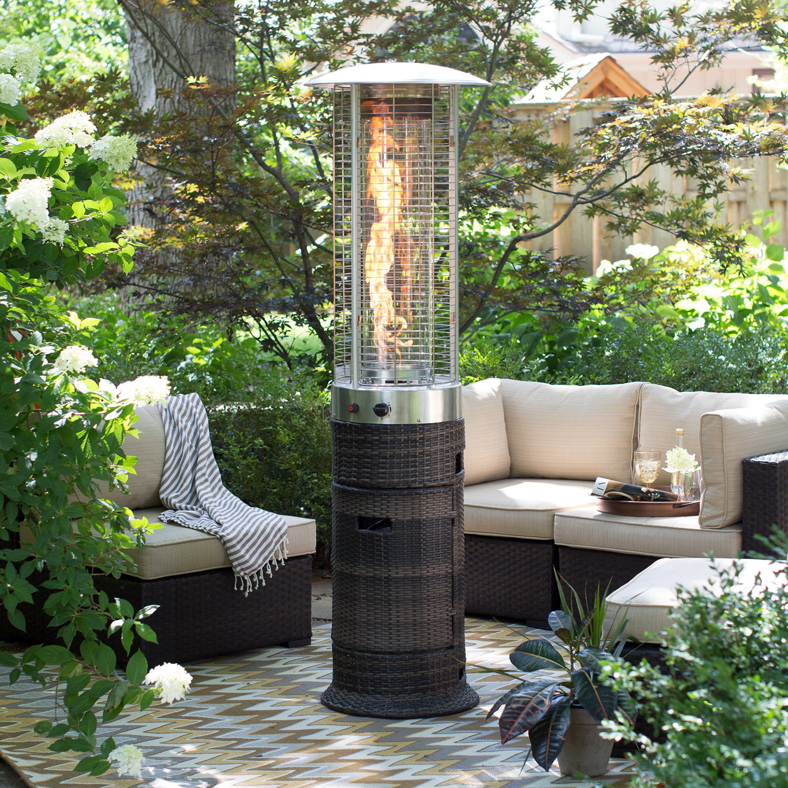 Red Ember Wicker Patio Heater   Walmart.com