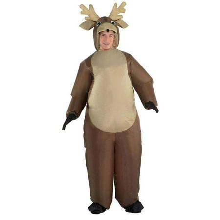 Reindeer Mens Adult Funny Christmas Animal Inflatable Costume-STD (Reindeer Suit)