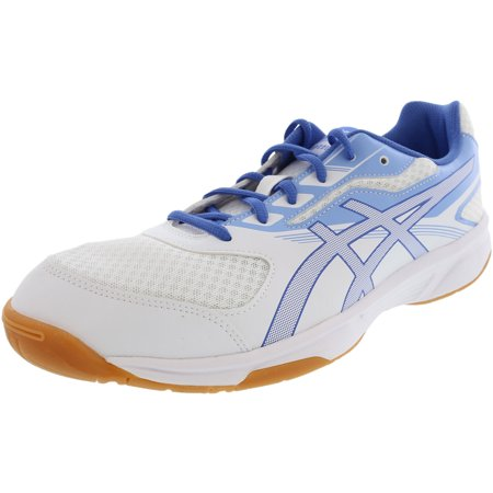Asics Women's Upcourt 2 White / Regatta Blue Airly Ankle-High Volleyball Shoe - (Best Volleyball Shoes For Libero)