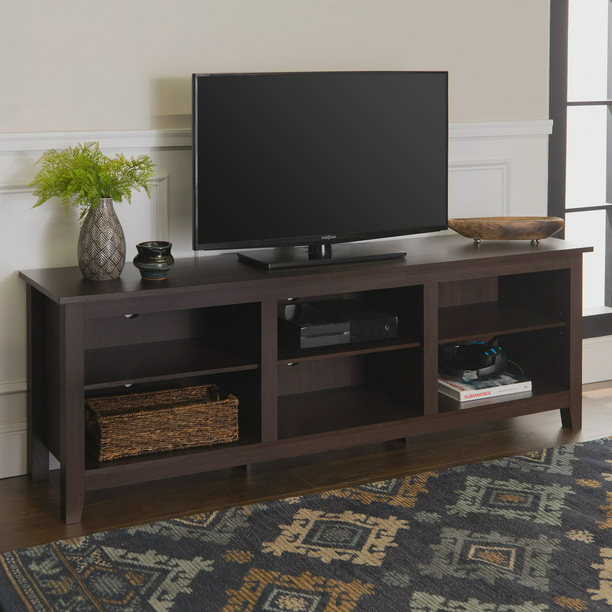 "Manor Park Wood TV Media Storage Stand for TVs up to 78"", Espresso"