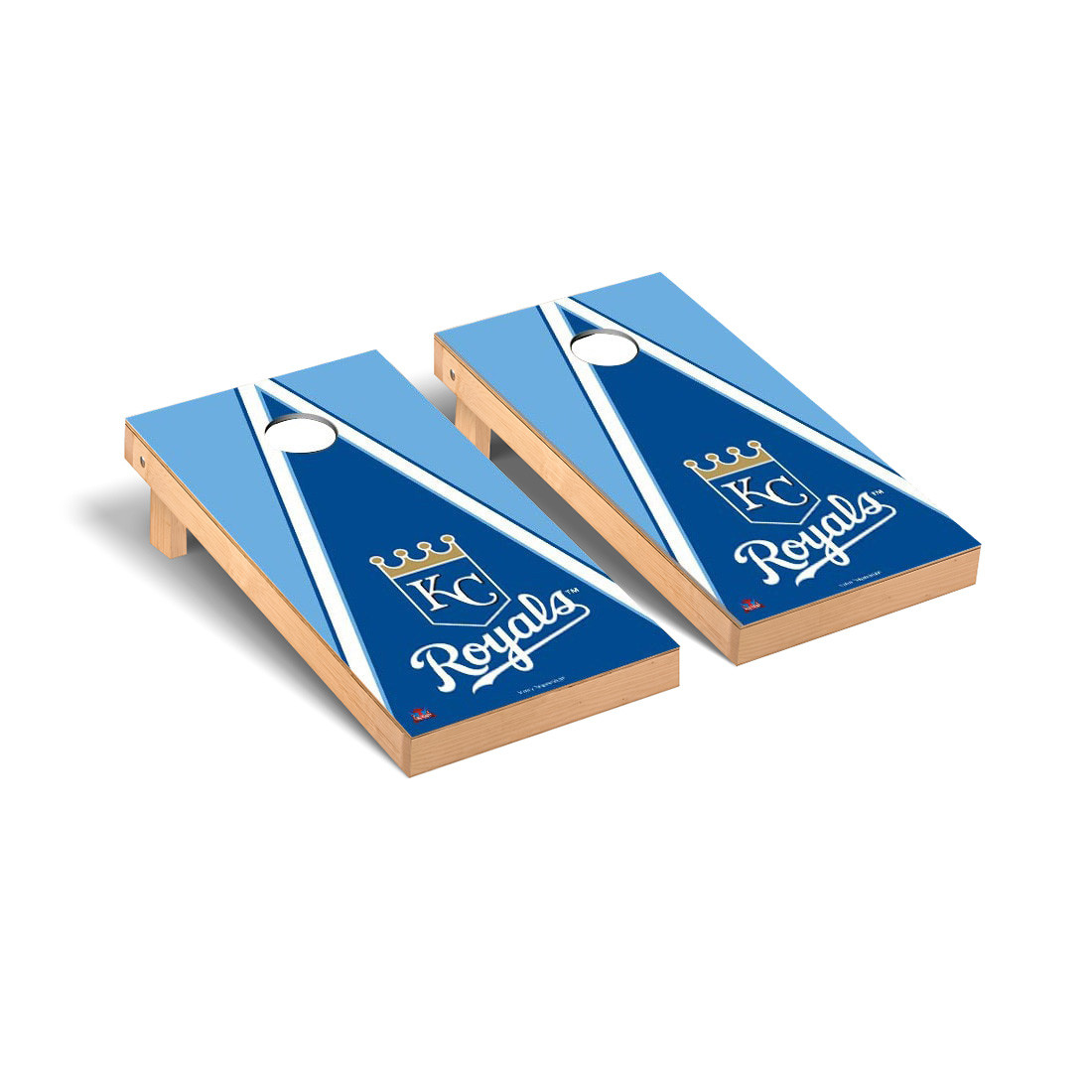 Kansas City Royals Triangle Cornhole Game - No Size