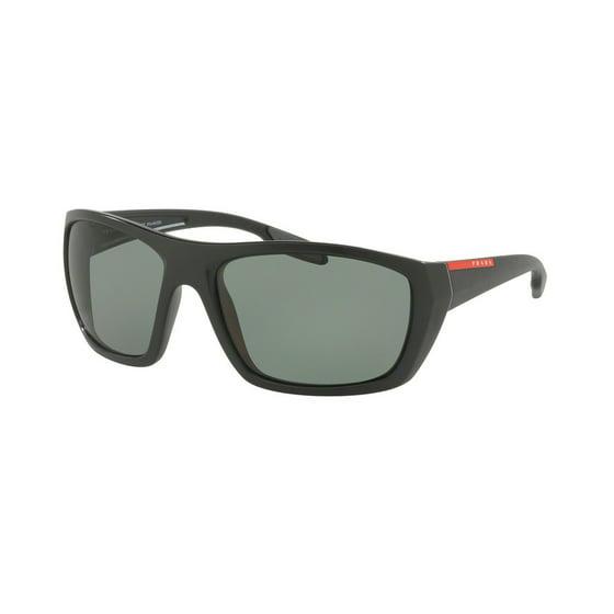 1527a8e3b2b Prada - Prada Linea Rossa Polarized Green Rectangular Mens Sunglasses  PR-PS06SS-1BO5X1-61 - Walmart.com