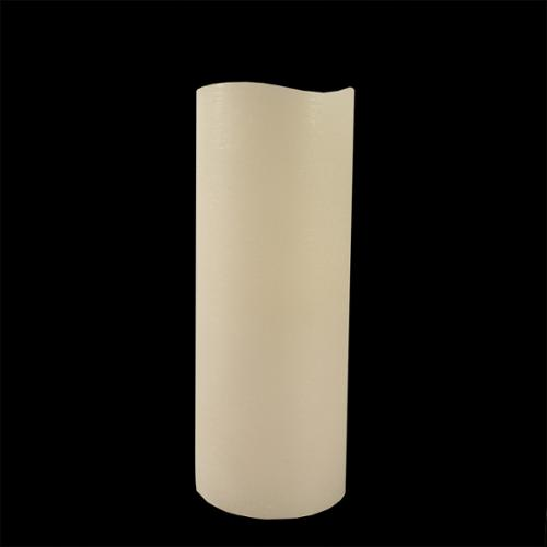 """8"""" White Battery Operated Flameless LED Wax Christmas Pillar Candle"""
