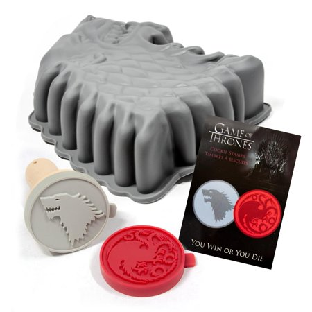 Game of Thrones Baking Set with Cookie Stamps and Cake Pan - Cake And Bake