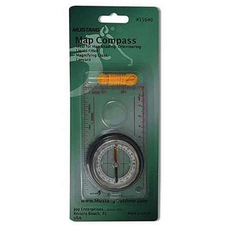 Joy Enterprises FP15640 Fury Mustang Map Compass with Magnifier, 4.25 x 2.35