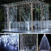 9.8Feet x 9.8Feet 110V 300LED Fairy String Lights Curtain Lamp Outdoor Garden Party Wedding Christmas Xmas Decor Plug 110V For Bedroom Living Room Garden