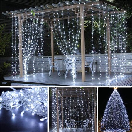 110V 9.8ft x 9.8ft 300LED Curtain Light Fairy String Lights Indoor Decoration Hanging Wall Lights For Bedroom Living Room Garden Party Wedding Christmas Xmas Decor 5 Colors - Hanukkah String Lights