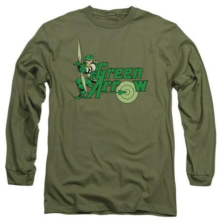 DC Comics Green Arrow Mens Long Sleeve Shirt ()