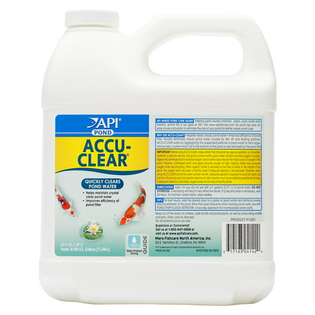 Clearwave Water Conditioner (API Pond Accu-Clear, Pond Water Clarifier, 64-Ounce)