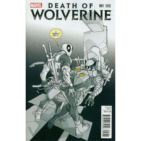 Death of Wolverine: #1 Variant Sketch Cover K Incentive [Deadpool]