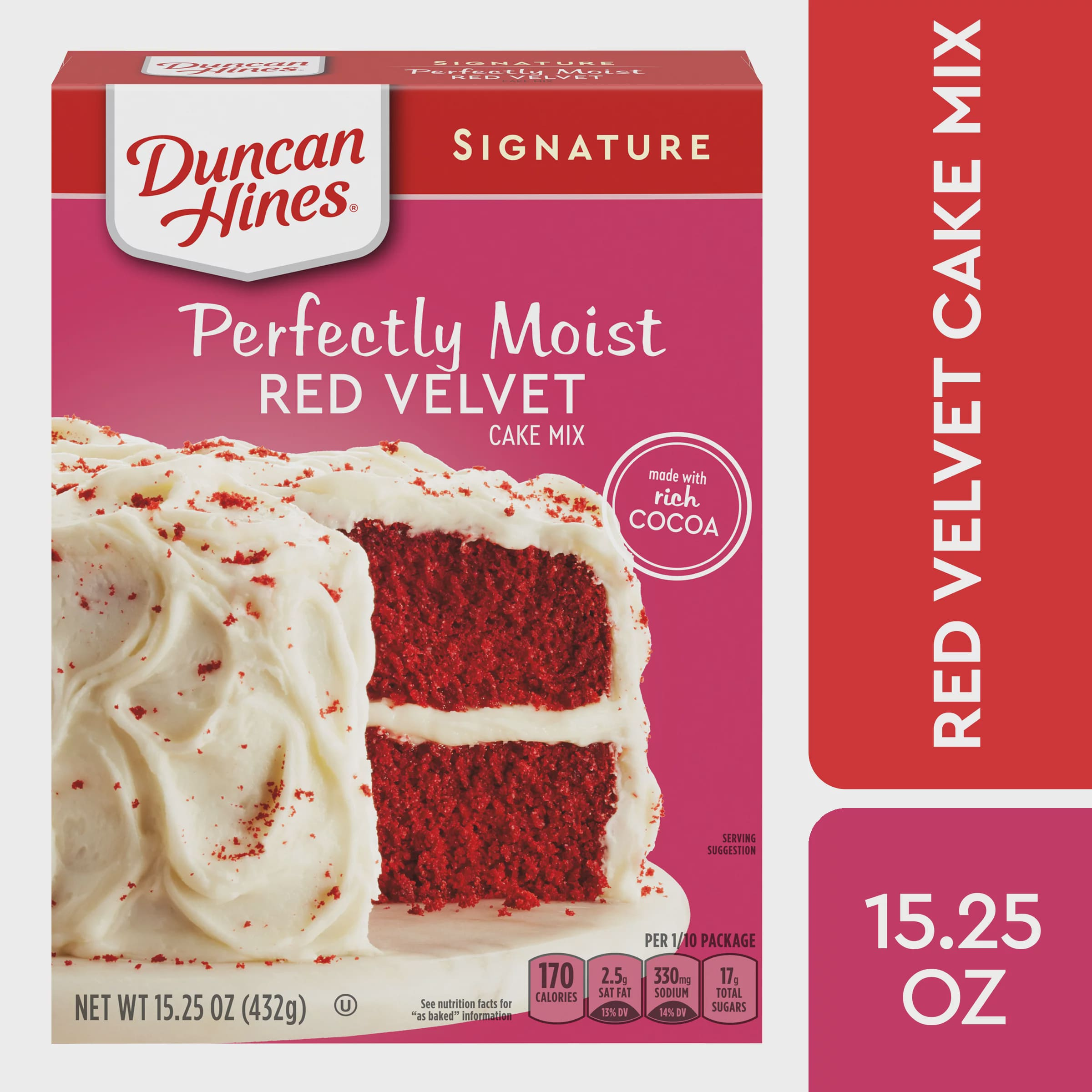 Duncan Hines Signature Perfectly Moist Red Velvet Cake Mix, 15.25 OZ