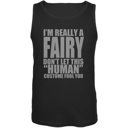 Halloween Human Fairy Costume Black Adult Tank Top - Trixie The Halloween Fairy