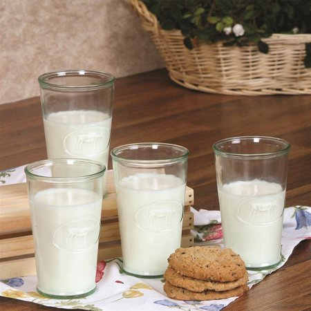 Cow Milk Glasses (Set of 4)