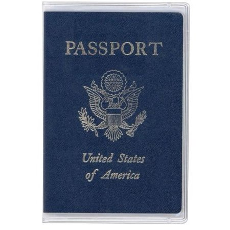 2 Clear Transparent Passport Cover Vinyl Thick (Novelty Passport)
