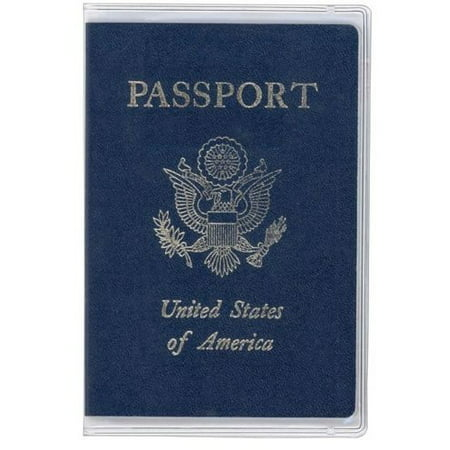 2 Clear Transparent Passport Cover Vinyl Thick (Monogrammed Passport Cover)