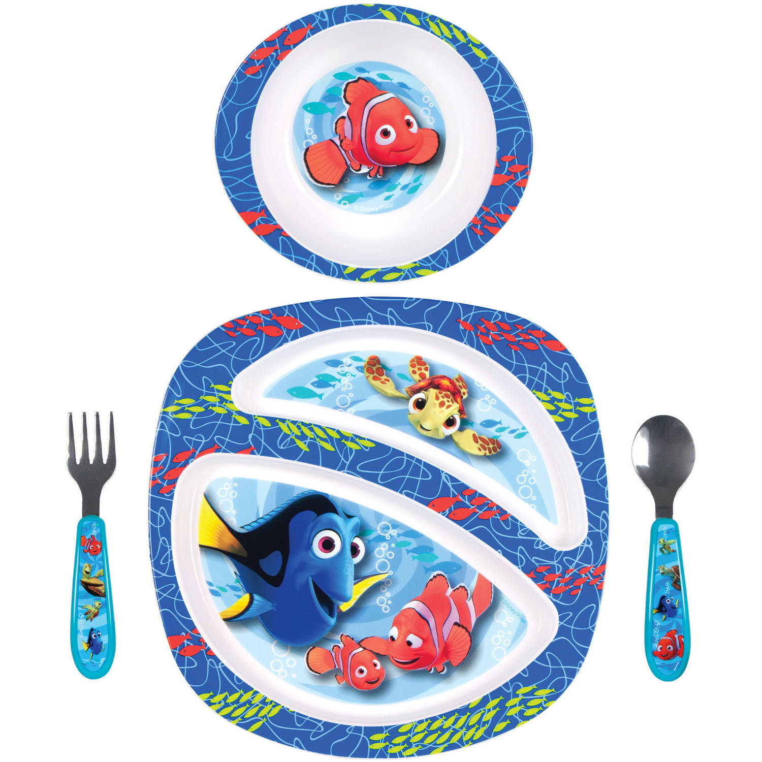 The First Years Disney/Pixar Finding Nemo 4-Piece Feeding Set, BPA-Free