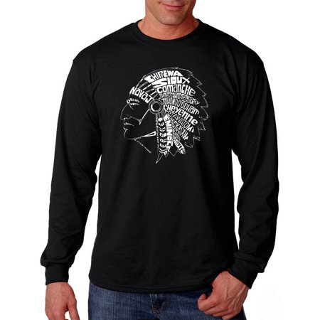 Los Angeles Pop Art Mens Long Sleeve T Shirt   Popular Native American Indian Tribes