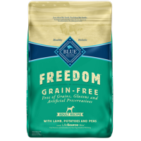 Blue Buffalo Freedom Grain Free Natural Adult Dry Dog Food, Lamb, 24-lb