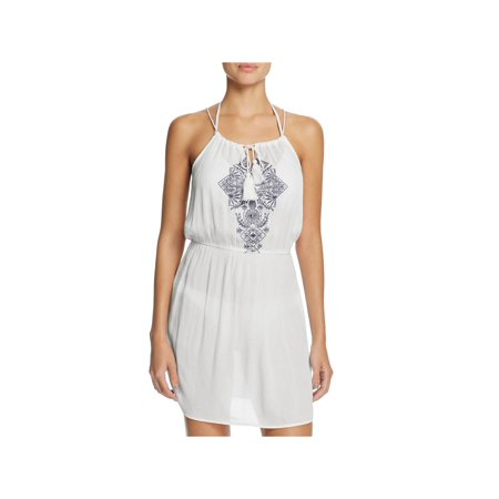 Ella Moss Womens Dreamer Embroidered Fit & Flare Casual Dress ()