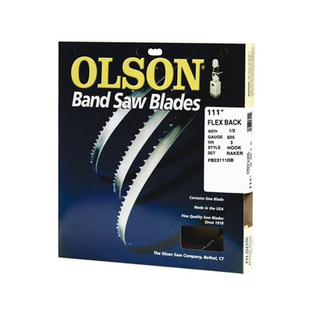 Olson 111 in L x 1 2 in W x 0 025 in thick Carbon Steel Band Saw Blade