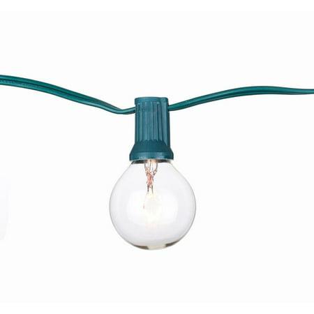Image of Global String Lights with Clear Bulbs, 100-Feet / 100 clear bulbs UL-Green Cord