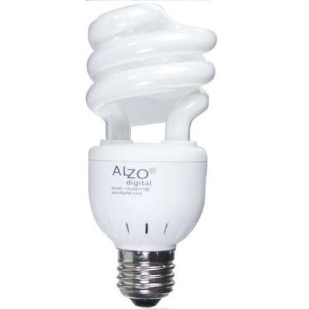 ALZO 15W Joyous Light Full Spectrum CFL Light Bulb 5500K, 650 Lumens, -