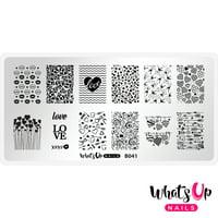 Whats Up Nails - B041 Season of Love Stamping Plate Nail Art Design