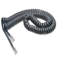 Cisco Handset Gray Curly Cord 12 Ft Uncoiled / 2 ft Coiled (5 PACK)