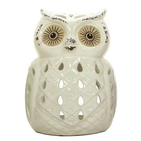 Mainstays Ceramic Owl Tea Light Holder - Halloween Tealight Holders