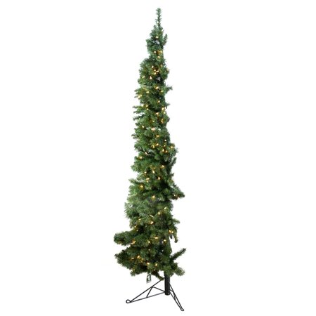 Home Heritage 7' Artificial PVC Corner Christmas Tree LED White Lights w/ Stand - image 4 of 9