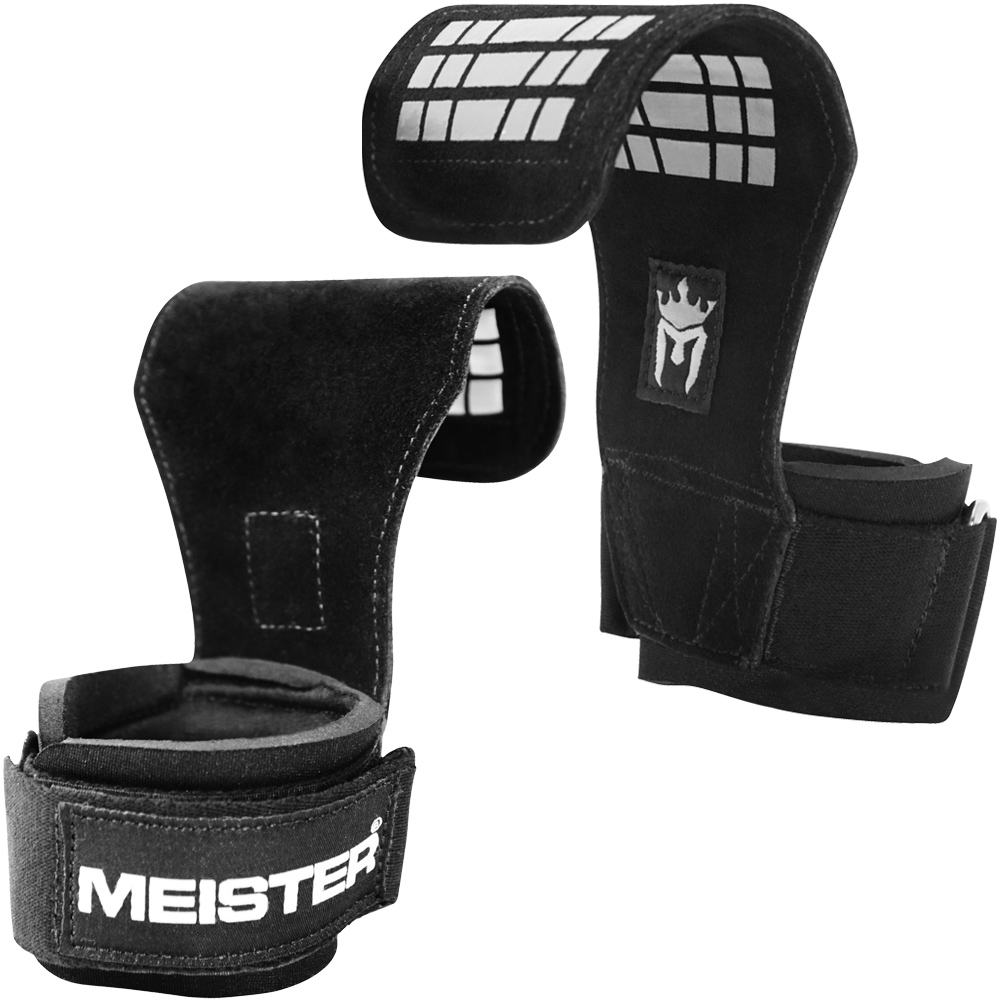 Weight Training Straps Bar Pads NEW MEISTER ELITE LIFTING GRIPS W// GEL PADDING