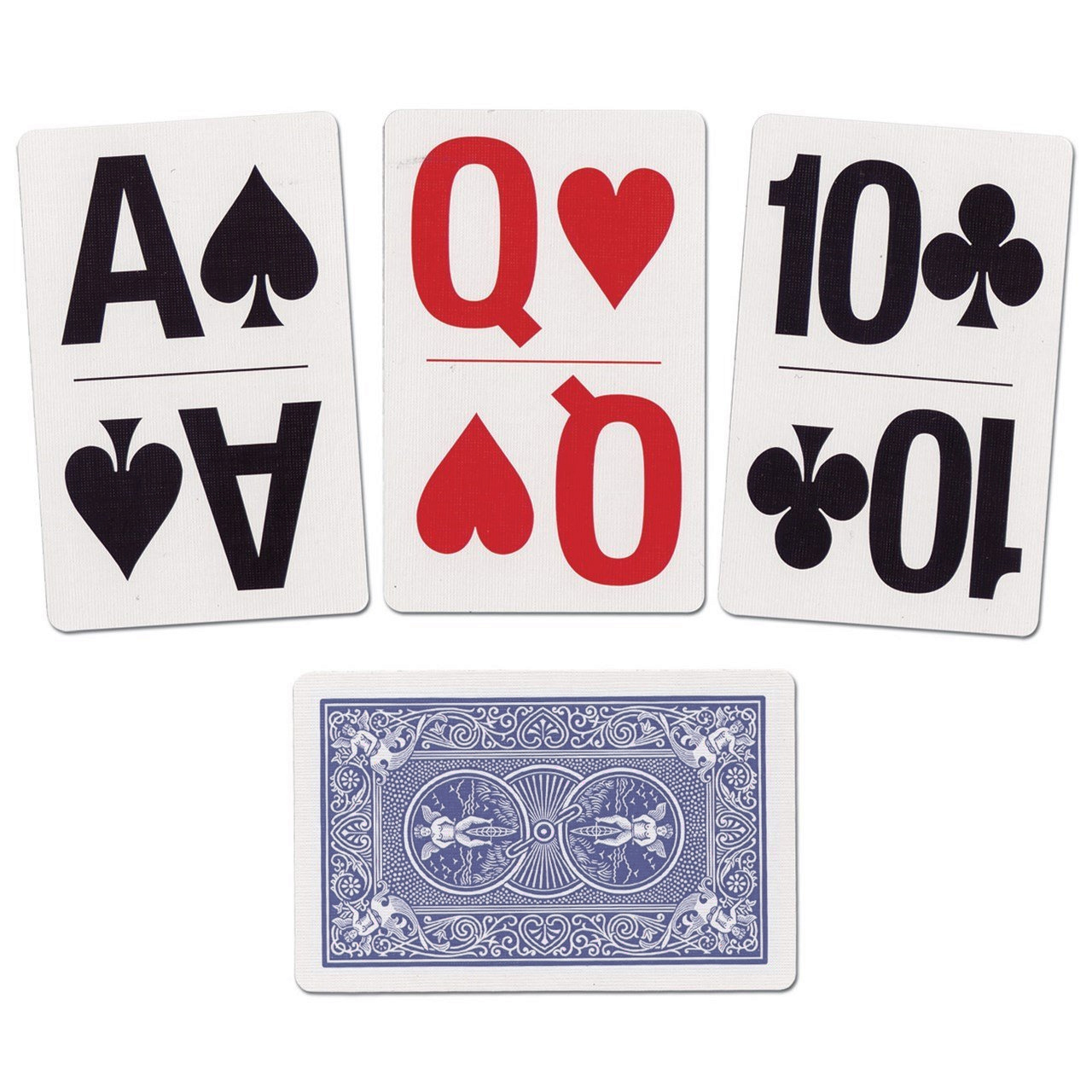 Bicycle Bridge Size Large Print Index Easy Viewing Playing Cards - 1 Blue Deck #1026098