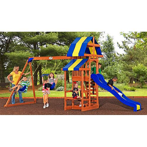 Pucci Sunchaser Cedar Swing Set Walmart Com