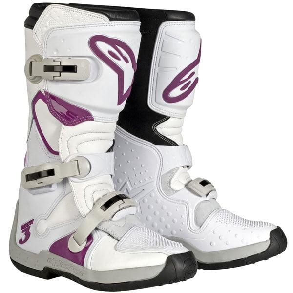 Alpinestars Stella Tech 3 Womens MX Boots White/Violet